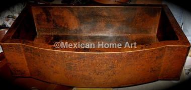 Copper Farmhouse Sink Single Well Jumbo 44x22x10