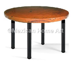 "Copper Game or Card Table 24"" Old Natural Patina"