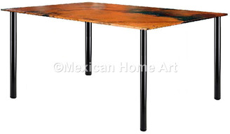 "Copper Entry or Hallway Table 24"" 'Dignity' Old Natural Patina"