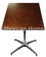"Copper End or Lamp Table Square 24"" to 36"" Old Natural Patina"
