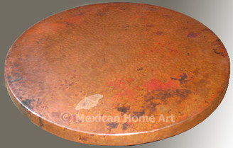 Copper Lazy Susan 12 inch in Natural Patina
