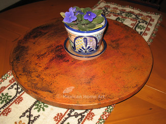 Copper Lazy Susan in Natural Patina