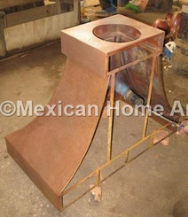 Copper Range Hood Wall Mount 42x22x34.5 iron interior