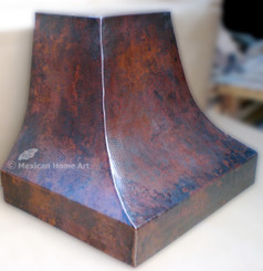 "72"" WALL MOUNT COPPER RANGE HOOD Somber Patina"