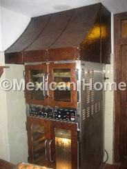 Copper Restaurant Range Hood for Oven Somber Patina