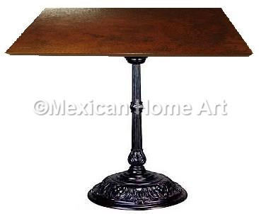 """Square Copper Dining Table 24""""-30"""" 'Classic' Somber Patina"""