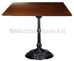 "Square Copper Dining Table 24""-30"" 'Classic' Somber Patina"