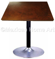 "Square Copper Dining Table 24""-36"" 'Sweet Flow' Somber Patina"