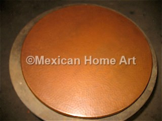 "Copper Table Top Round 30"" in Cafe Patina"