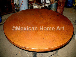 Copper Table Top Round 32""