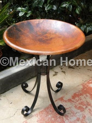 Copper Bird Bath for KM old natural patina