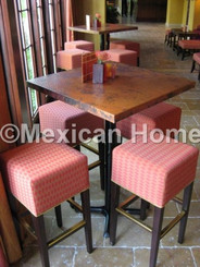 Copper Table Tops for Brazilian Court Hotel Old Natural Patina 90 degree corners