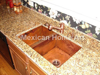 Custom 40/60 kitchen sink for EC