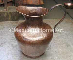 Custom Copper Water Pitcher for MR Somber Patina
