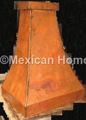 Custom Copper Range Hood Old Natural