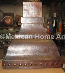Custom Copper Range Hood for KK Somber Patina