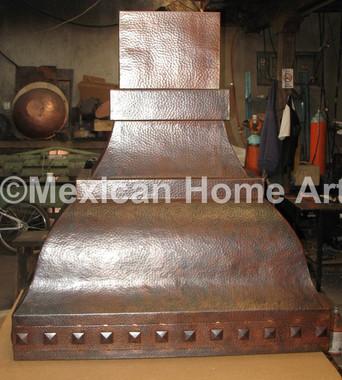 Custom Copper Range Hood for KK Somber Patina