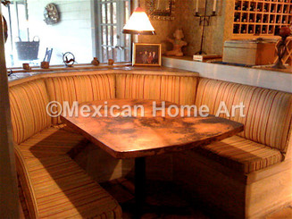 Custom Shaped Copper Table for SP to fit existing space Somber Patina