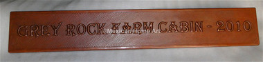 Custom Copper Name Plate for DS