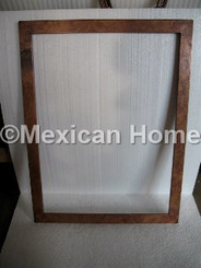Custom Copper Picture Frame Rectangular somber patina front view