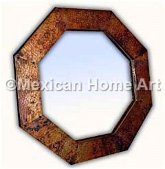 Custom Copper Picture Frame Octagonal somber patina