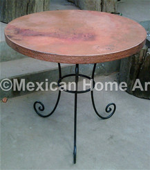 Custom copper Table with 3 legs for KR old natural patian