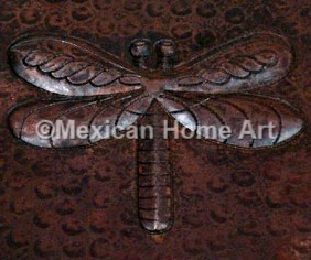 Copper Tile Dragonfly Motif