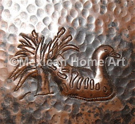 Copper Tile Duck Motif