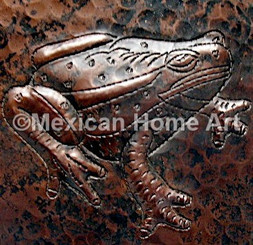 Copper Tile Frog Motif