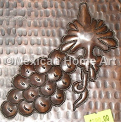 Copper Tile Grape 1 Motif