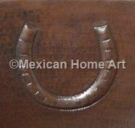 Copper Tile Horseshoe Motif