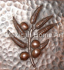 Copper Tile Berries Motif