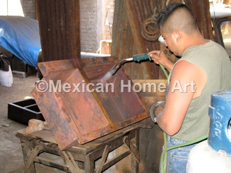 The Blow Torch Portion of the Patina Process to create somber and antique patinas