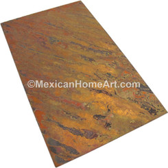 Rectangular  Copper Table Top 72 x 36 inch New Natural Hammered Waxed