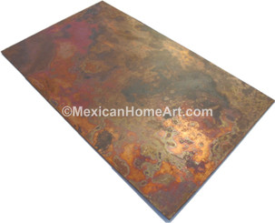 Rectangular  Copper Table Top 48X30 Old Natural smooth waxed