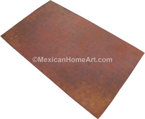 Old Natural Hammered Unwaxed rectangular copper table top 24x30 inch