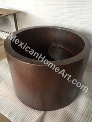 Hand Hammered Copper Japanese Soaking Tub 42X30 somber patina front view