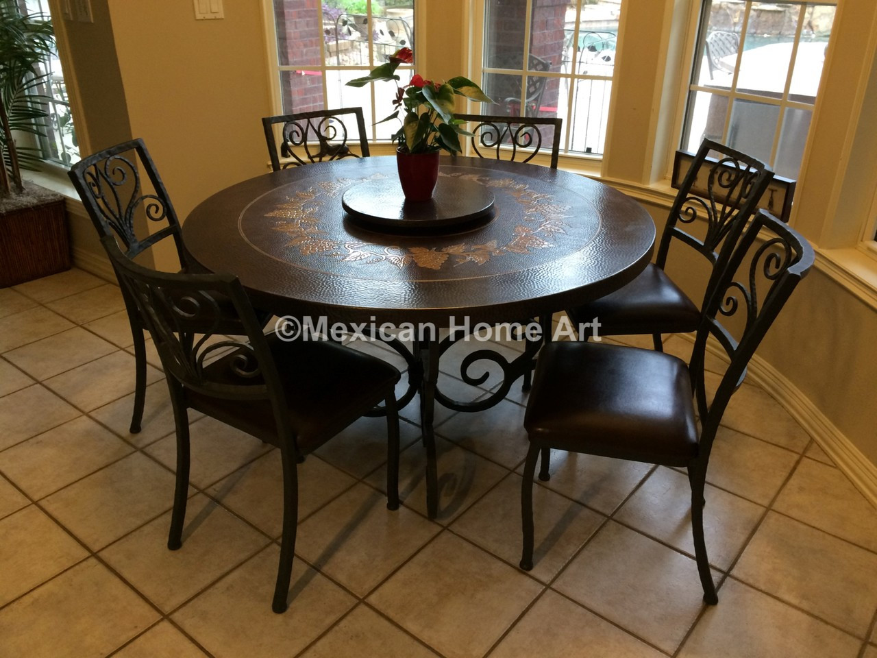 Copper Dining Table Round 48 Celaya Dining Room Furniture