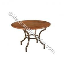 "Copper Dining Table Round 48 ""Tarimbaro"""