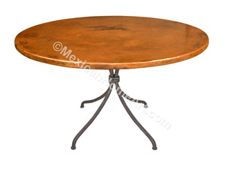 "Copper Dining Table Round 42 ""Santa Morena"""