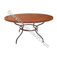 "Copper Dining Table Round 42 ""Bosque"""