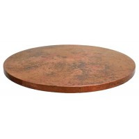 Round copper Table top Old Natural Patina