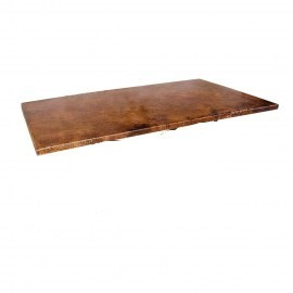 Rectangular copper table top Old Natural Patina