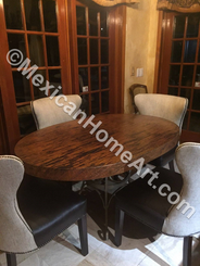 Custom Copper Table Top Oval 60x40x3, New Natural Patina Custom 3 inch thickness