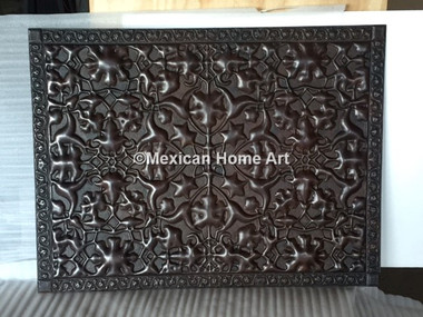 Custom Wall Plate for MM-S with motif Somber Patina