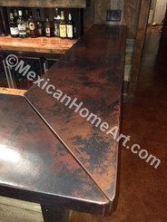 Custom Copper Bar Top for GH  Somber Smooth Patina