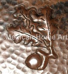 """Copper Tile Motifs """"Acorn"""" shown in Somber Patina"""