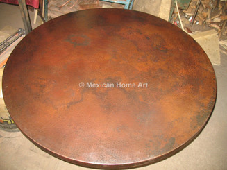 Copper Table Top Round 42 in Somber