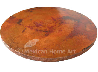Copper Table Top Round 48 TTR48 Old Natural Patina