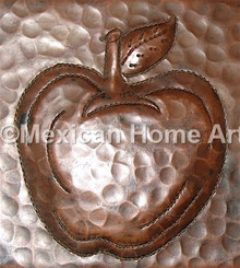 Copper Tile Apple Motif